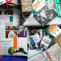 All my pressies ready to go. Wrapped in London street zines... zero money spent. W I N N I N G!  #custom #giftwrap #recycled #wrappingpaper #underthetree #santalovesabargain