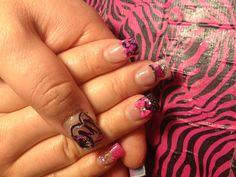 Metal mulisha nails w/aqua nail!