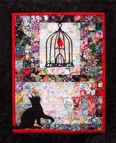 Applique wall hanging quilt kit. Red Bird Retreat Quilt Kit WHIM-194 by Whims Watercolor Quilt Kits - Susan Stutzman.  Check out our animal & nature quilt patterns. https://www.pinterest.com/quiltwomancom/animal-nature-quilts/  Subscribe to our mailing list for updates on new patterns and sales! https://visitor.constantcontact.com/manage/optin?v=001nInsvTYVCuDEFMt6NnF5AZm5OdNtzij2ua4k-qgFIzX6B22GyGeBWSrTG2Of_W0RDlB-QaVpNqTrhbz9y39jbLrD2dlEPkoHf_P3E6E5nBNVQNAEUs-xVA%3D%3D