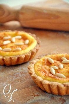 Sfiziose crostatine molto facili da preparare - Ricetta Dessert : Crostatine ricotta e pinoli da Lisaqb