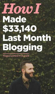 Monthly rundown of blogging income- this is very detailed and includes number of hours worked and expenses