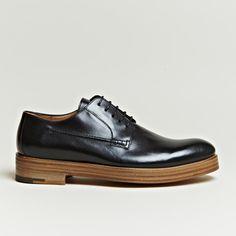 Dries Van Noten Wood Grain Sole Derby Shoes