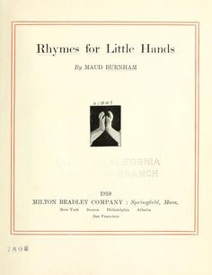 """""""Rhymes for Little Hands"""""""