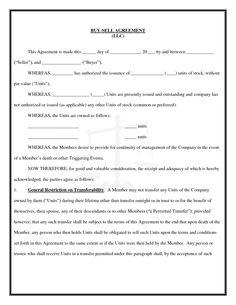 Free Buy Sell Agreement Template Dpwplxuy