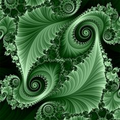 Green Fractal. A fractal is a rough or fragmented geometric shape that can be subdivided in parts, each of which is (at least approximately) a smaller copy of the whole. Fractals are generally self-similar (bits look like the whole) and independent of scale (they look similar, no matter how close you zoom in).