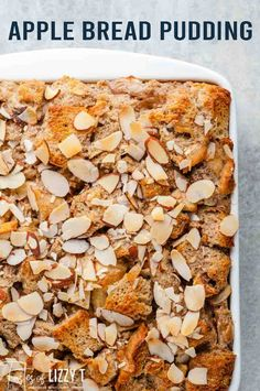 Apple bread pudding with almonds offers a slightly crisp topping, warm moist center, with the best bites of sour apples coated in the right amount of ground cinnamon topped with the sweet aroma of almonds for a tantalizing eating experience. Baked Blueberry Donuts, Brunch Recipes, Dessert Recipes, Best Apple Recipes, Bread Pudding With Apples, Apple Bread, Fresh Apples, Apple Desserts, Breakfast On The Go