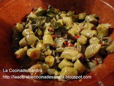 La Cocina de Sandra: Escabeche de Guineos Con Mollejas