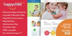 HappyChild - Kindergarten WordPress Theme V4.1 - http://nulledtemplates.net/templates/wordpress-theme/happychild-v-4-1.html  HappyChild is the outstanding WordPress theme created for professional child care centers, preschool and kindergartens. The responsive layout is based on the Bootstrap 3.1 grid standards.    Version V4.1   Author StylemixThemes   Distributor / Market evanto, themeforest   High Resolution yes   Widget Ready yes   Compatible Browsers IE8, IE9,