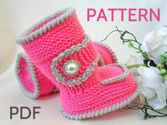 Knitting PATTERN Baby Booties Baby Shoes Knitted por Solnishko43