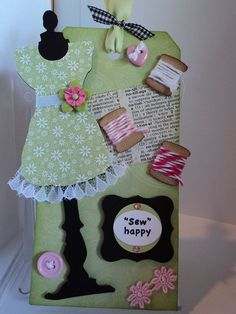 Tim Holtz Dress Form Die   Sew happy Tag--Tim Holtz The Sewing Room die on clearance a @Erin B B ...