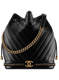 This is the new Chanel bag every fashion girl is buying. This is the Gabrielle drawstring bag in black