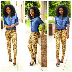 Leopard skinnies