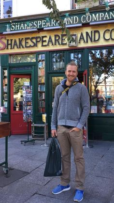 Outside the famous Shakespeare and Company bookstore in Paris, France New York Bar, Shakespeare And Company, Classic Jazz, To Boast, Our Last Night, Get Back To Work, French Wine, Travel Workout, Photography For Sale