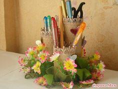 Ideas para el hogar: Porta lápices con conos de papel higiénico