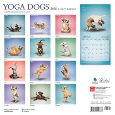 Yoga Dogs 2015 Square 12x12