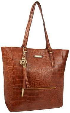 Amazon.com: Anne Klein Snake Charm Tote,Saddle,One Size: Clothing