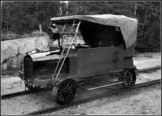 Rail car made from a Ford model T. Sweden in the 30's.
