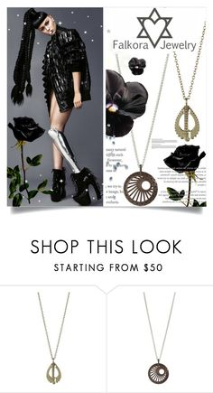 """""""Falkora Jewelry"""" by design-it-look ❤ liked on Polyvore featuring jewelry, trend and futuristic"""