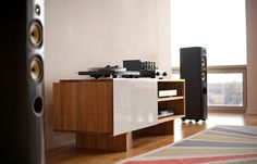 Let there be music.    PrimaLuna Prologue One   Jolida JD9  Pro-ject Xpression III  Ortofon 2M Blue  Harmon Kardon HD 990   PSB Image T5    (MASH Studios LAX Entertainment Shelf)