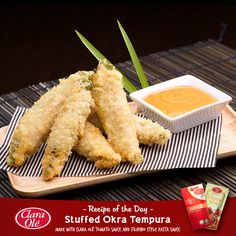 Here's a Japanese favorite dish with a Filipino twist! Try our Stuffed Okra Tempura made special with Clara Olé.