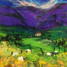 Moy McKay grazing at the glen, felt artwork