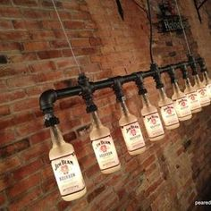 Industrial Style Chandelier - Bottle Light by Jay Harrison