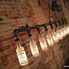 Industrial Style Chandelier -  Bottle Light by Jay Harrison