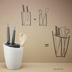 Rig-Tig by Stelton Organise Utensilienhalter, Moderne Kombination aus Messerblock und Utensilienhalter. Organise Utensilienhalter von Rig-Tig by Stelton hier online kaufen!