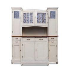 Antiker Vintage Küchenschrank Weiß Creme Jugendstil Shabby Chic