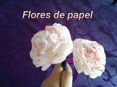 FLOR de PAPEL paso a paso. Paper Flower diy.