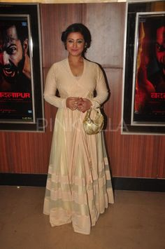 """Varun Dhawan and Huma Qureshi launched the trailer of their forthcoming movie """"Badlapur"""" at an event in Mumbai on Tuesday. Varun sported a Burberry s. Indian Attire, Indian Outfits, Divya Dutta, Anarkali Dress, Bollywood Fashion, Mumbai, Indian Fashion, Kurti, Awards"""