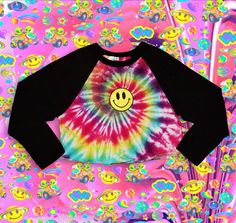 Smile, happy looks good on you! . #NEW #Psychedelic #Tie #Dye #AmericanApparel #Style 3/4 Sleeve Raglan / #Baseball #Crop #Top #Tee ~ With #Smiley Patch (OPTIONAL) just added to our #SHOP! Wear a #smile ✌✨ LINK'S IN BIO❣ || #etsy #etsyshop #etsyseller #etsygifts #rad #smiles #happy #rainbow #croptop #tiedye #hipster #hippie #tumblr #apparel #fashion #clothing #store