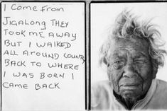 I come from Jigalong they took me away but I walked all around country back to where I was born I came back. Daisy Kadibil talks about her escape along the rabbit proof fence, 2009 / sister of Molly Craig who walked the fence more than once in her life. Aboriginal History, Aboriginal Culture, Aboriginal People, Aboriginal Art, Aboriginal Children, Indigenous Education, Indigenous Art, Australian Aboriginals, We Are The World