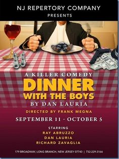 New Jersey Footlights: 'Dinner With The Boys' by Dan Lauria next at NJ Re...
