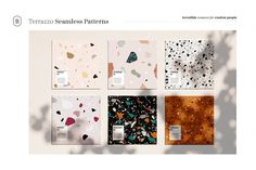 12 Terrazzo Seamless Patterns ~ Graphic Patterns ~ Creative Market, graphic design, branding, web design, packaging #ad