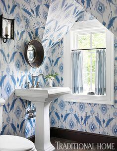 ikat wallpaper from Thibaut