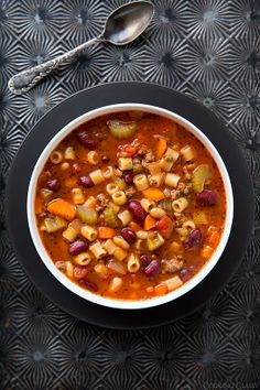 Pasta e Fagioli (Olive Garden Copycat Recipe) - our family loves this soup! We make it all the time.
