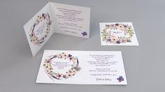 Vintage esküvői meghívó, virágkoszorú esküvői meghívó - vintage flowers wedding invitation Frame, Picture Frame, Frames