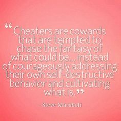 Cowards v. Courage. One is still a coward and one is learning to cultivate. :)
