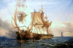 Category:Paintings in Musée des beaux-arts de Brest Sailing Ships, Sailing Boat, Pirate Art, Ship Of The Line, Man Of War, Wooden Ship, Brest, Sail Away, Napoleonic Wars