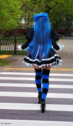 "Apparently this is a cosplay, but I don't know of whom. ^•^"" I don't watch enough anime."