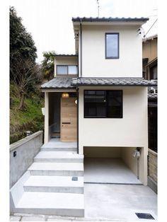 45 luxury modern house exterior design ideas – My Ideas Narrow House Designs, Modern Small House Design, Small House Interior Design, Home Room Design, House Front Design, Tiny House Design, Home Design Plans, 3 Storey House Design, Luxury Modern Homes