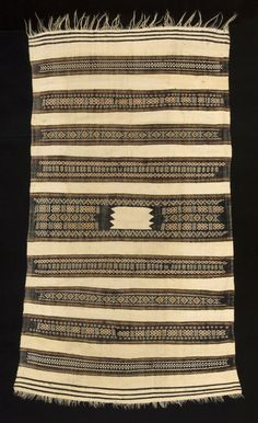 Africa | Ait Hichem Women's Mantle. Kabylie region, Algeria | Wool and cotton, natural dyes.