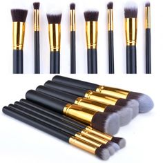 Nova 8 PCS Maquiagem Profissional Set Pro Kits Pincéis De Maquiagem Cosméticos Brush Tool