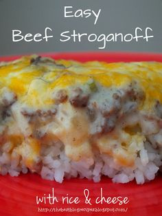 Easy Beef Stroganoff with Rice and Cheese | The Best Blog Recipes
