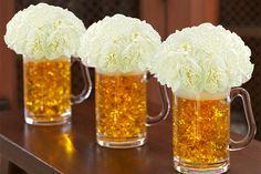 Beer Mug Flower Arrangement