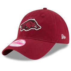 5bca5c55f96a1 Arkansas Razorbacks New Era Women s Team Glisten 9TWENTY Adjustable Hat -  Cardinal