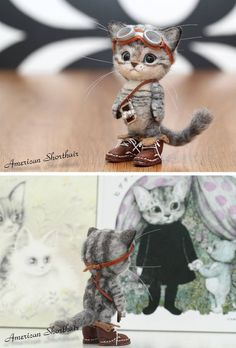 Новости Needle Felted Animals, Needle Felted Cat, Felt Animals, Funny Animals, Cute Little Animals, Felt Cat, Felt Mouse, Steampunk Cat, Doll Toys