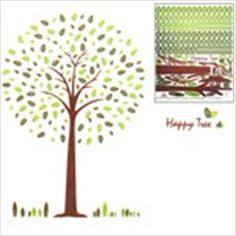 DIY Self-Adhesive Removable Wall Sticker Decal Wallpaper House Interior Decor - Happy Tree Pattern