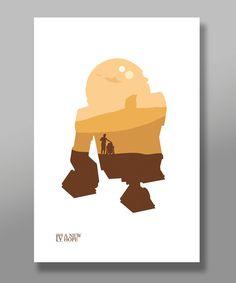 Star Wars film minimaliste affiche Set édition par BigTimePosters